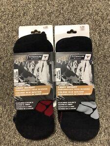 Columbia Titanium Hiking Socks Large x2 NWT