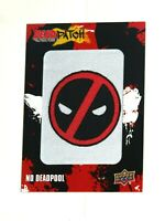 2019 UPPER DECK MARVEL DEADPOOL DEADPATCH PATCH Tier 1 DP20 NO DEADPOOL!