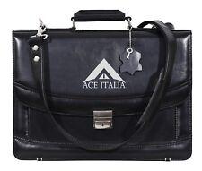 5996 Bblack Glaze Mesenger Shoulder Laptop Office Briefcase Leather Bag
