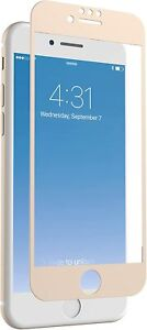 ZAGG InvisibleShield Glass + Luxe Screen Protector for iPhone 8,7,6s,6-GOLD-NEW