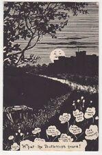 What The Buttercups Heard, Moonlight Comic Postcard, B605