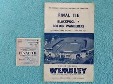 Teams A-B Blackpool Football Programmes with Match Ticket