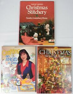 SET of 3 Books: Christmas Crafts DIY Ornaments Decorations Recipes Gifts Angels