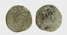 s542_10) Ancona. Sisto V (1585-1590). Testone 1588 (variante 1388). M. 76/80