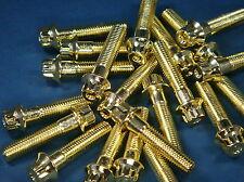 Vergoldete Schrauben für mehrteilige Felgen M7 x 32