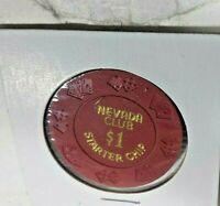 SOUVENIR NEVADA CLUB STARTER CHIP $1 NO CASH VALUE
