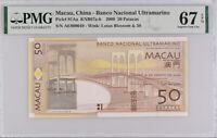 Macau 50 Patacas 2009 P 81Aa Superb GEM UNC PMG 67 EPQ