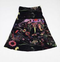 JUPE     MAMATAYOE  FLORAL CACAO  Black    TAILLE XL