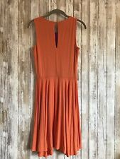 Cynthia Rowley Orange Purple Summer Bold Cocktail Flowy Dress S Small RARE!