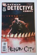 DETECTIVE COMICS #876 - 1ST PRINT - DC COMICS JUNE 2011 - VFN+ SNYDER JOCK