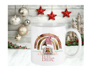 Personalised Gonk Gonks Pink Mum Cup Mug Gift Keepsake Novelty Christmas Present
