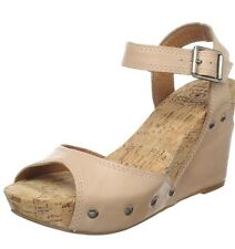 Lucky Brand Women's Maryann Wedge Sandal,Light tan,Size 10