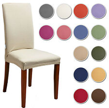 4 COPRISEDIA vesti sedia TINTA UNITA millerighe rivestisedia 14 colori