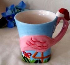 Tropical Pink Flamingo Christmas Holiday Mug Cup Coffee Tea Hot Cocoa
