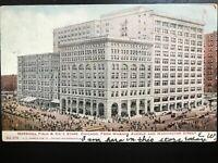 Vintage Postcard>1906>Marshall Field & Co's>Wabash & Washington Str>Chicago>Ill