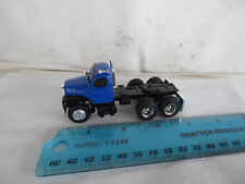 VINTAGE ERTL 1/64 MACK CAB BLUE with BLACK FENDERS TOY TRUCK TRACTOR DCP
