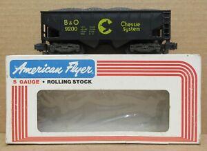 American Flyer 4-9200 Chessie Hopper Car S-Gauge LNIB