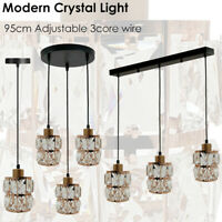 Modern Sparkly Ceiling Pendant Light Shade Jewel Lamp Easy Fit Moda Fitting