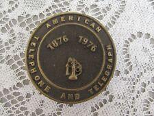 American Telephone & Telegraph Solid Brass A J Dezy Vintage Belt Buckle 1975