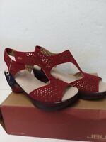 JBU by Jambu Women's CHLOE Wedge Sandal RED Size 7