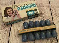 Vintage Photography/Camera - Sylvania Blue Dot Flashbulbs - M2B - 11 Bulbs