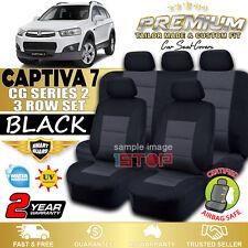 HOLDEN CAPTIVA 7 2011-2018 BLACK CUSTOM FIT SEAT COVERS CG2 CX LS LT LTZ LX SX