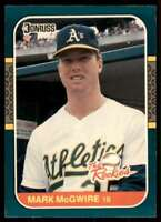 1987 Donruss The Rookies MArk McGwire Rookie Oakland Athletics #1
