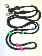 lesson reins with colored knots barrel reins training reins