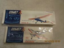 TWO Comet balsa model airplane kits