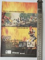 Dungeon Siege Video Game RARE Print Advertisement