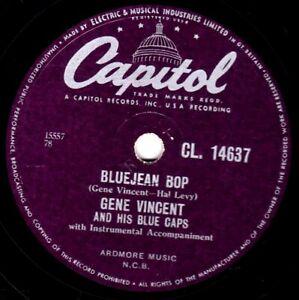CLASSIC GENE VINCENT 78  BLUEJEAN BOP / WHO SLAPPED JOHN UK CAPITOL CL 14637 V+