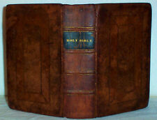1819 Antique American HOLY BIBLE Leather King James Clarissa M. Peck Connecticut