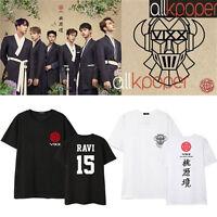 Kpop VIXX Tshirt New Album Shangri-La T-shirt Leo Ken Ravi Hongbin Cotton Tee