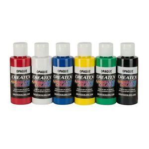 Createx Airbrush Paint - 5803 Opaque Set 6 x 60ml