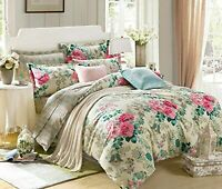 100% Comfort Cotton Double Bedsheet with 2 Pillow Covers - Floral, Multicolour