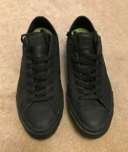 Converse - Chuck Taylor All Star - Black - Lux Leather - UK 10.5 - Lunarlon