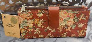 Patricia Nash ~NAZARI Leather RFID Bifold Wallet~FLORAL~VINTAGE BOTANICAL~NWT