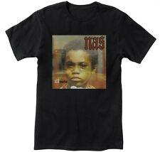 NAS Illmatic Hip Hop Men's Black Graphic T-Shirt  NEW!  S M L XL 2XL 3XL 4XL 5XL
