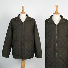 MENS RALPH LAUREN GREEN QUILTED ZIP JACKET OUTDOORS COUNTRY HUNT GENT COAT L