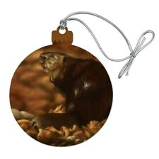 Beaver by the River Wood Christmas Tree Holiday Ornament