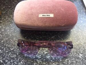 Retro Vintage Dolce & Gabbana Pink Lilac Sunglasses Rare & Miu Miu Sunglass Case