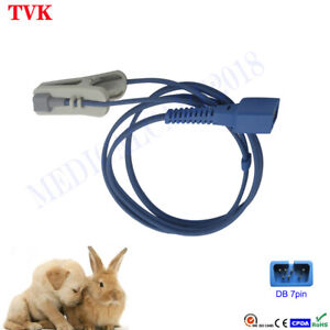 Reusable Nellcor Veterinary Clip SpO2 Sensor, DB7pin, 3ft, Compatible Sensor