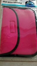 New Tablet Sleeve Fits up to 8 inch Pink Black Universal Nook Apple Ipad Fabric