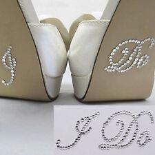 I DO Clear Diamante Crystal Bridal Wedding Shoe Decoration Sticker UK FREE POST
