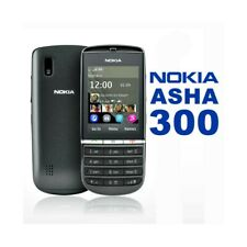 Phone Mobile Phone Nokia Asha 300 Umts 0.1oz Black Bluetooth Games Second Hand