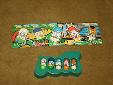 '03 Moose's Mighty Beanz - Series 2 - Complete set of 5 & cards WORLD GAMES team