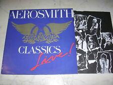 Aerosmith Classics Live! UK Press + Plattenpass Unverkäufliches Modèle