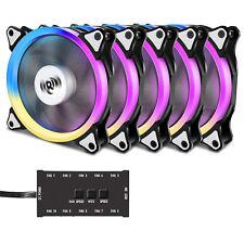Aigo Aurora C5 Kit 120mm Quiet Edition Adjustable LED Case Fan for PC Cooler