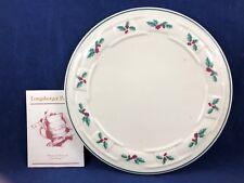 "Longaberger Pottery Christmas Plate - Traditional Holiday Trivet - 8-1/2"" w/Box"