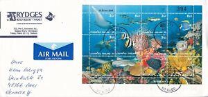 2002 Thailand #1960 on cover, Ko Kaeo to Germany; Marine Life, fish topical  *d
